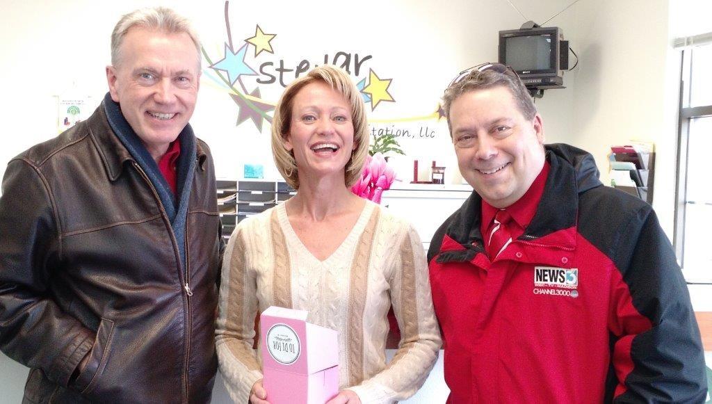 Pat and Gary with Susan Armstrong at Stellar Rehabilitation in Verona
