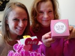 Lanette and Ginger with V-Day treats