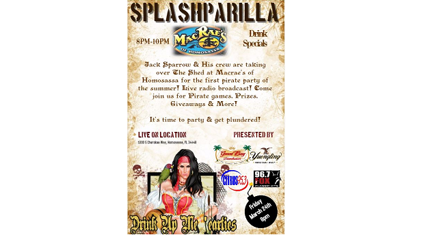 Live on Location - Splashparilla #1 - The Shed at Macrae's