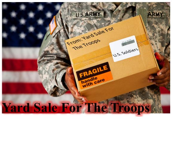 Yard Sale For The Troops