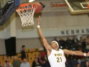 Jalan Brown goes up for a layup against NJC (Photo Courtesy of Mark Rein)