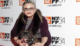 """Actress Carrie Fisher attends a special screening of, """"Bright Lights: Starring Carrie Fisher and Debbie Reynolds"""", at Alice Tully Hall on Monday, Oct. 10, 2016, in New York. (Photo by Andy Kropa/Invision/AP)"""