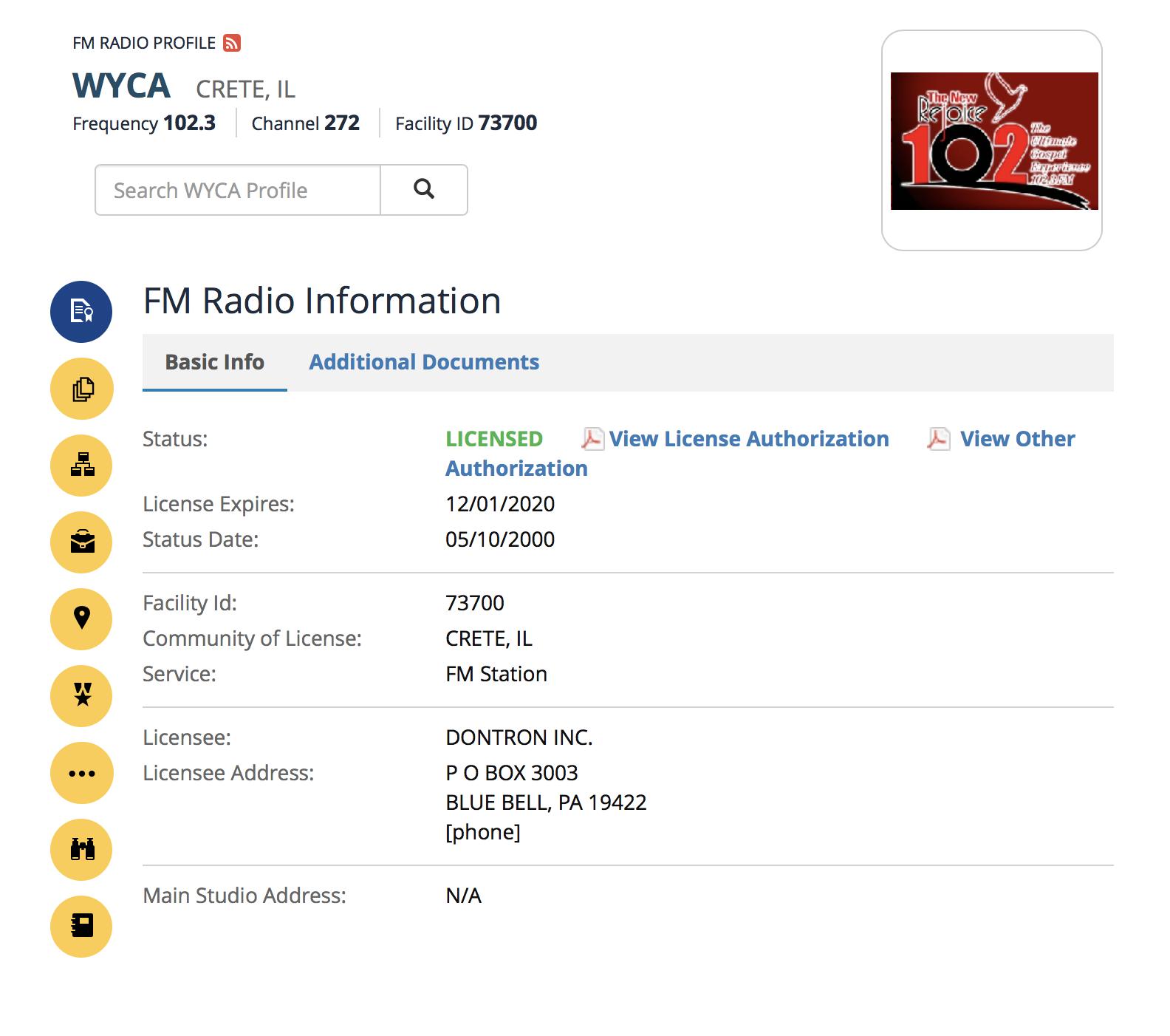 WYCA Public File