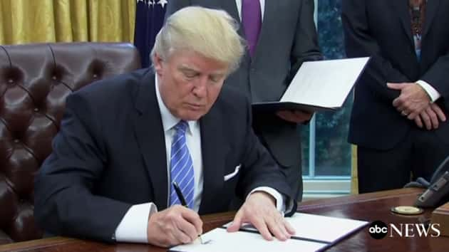 Trump signs order to ease ban on political activity by churches