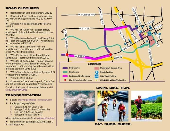Ironman Road Closures for this Saturday KSRO