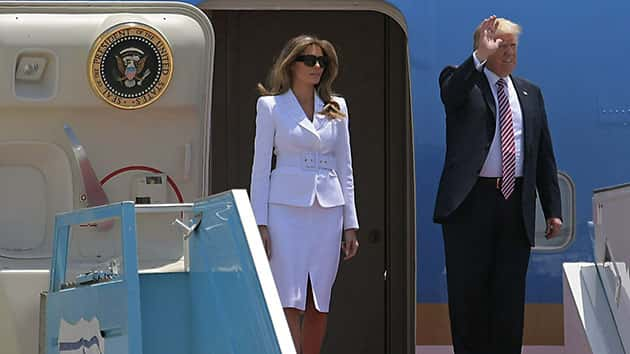 Donald Trump makes a tender gesture towards Melania