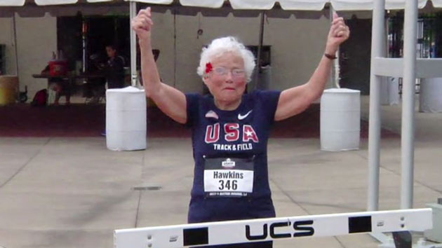 101-year-old female runner sets world record