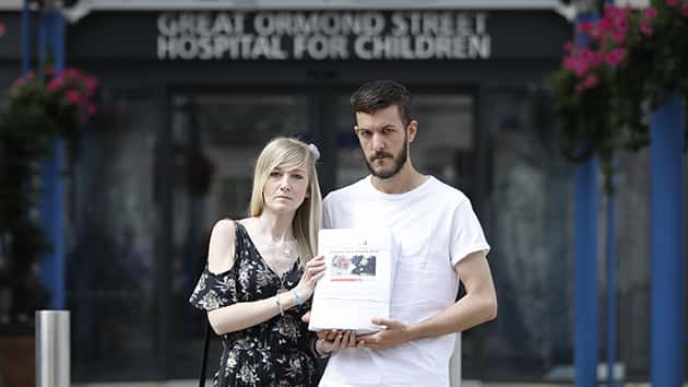 Parents release new picture they say proves Charlie Gard isn't blind