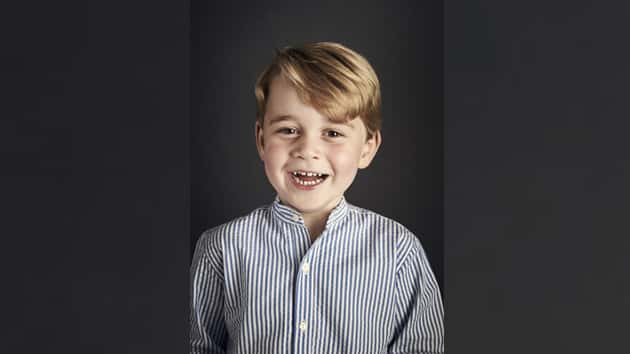 Prince George beams in official photo ahead of fourth birthday