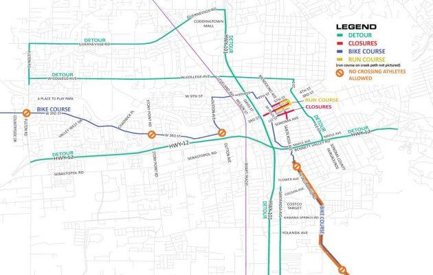 Ironman Santa Rosa this Saturday Means Road Closures KSRO