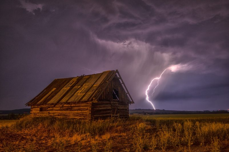 Tornado rips through barn as series of severe storms slam Wyoming