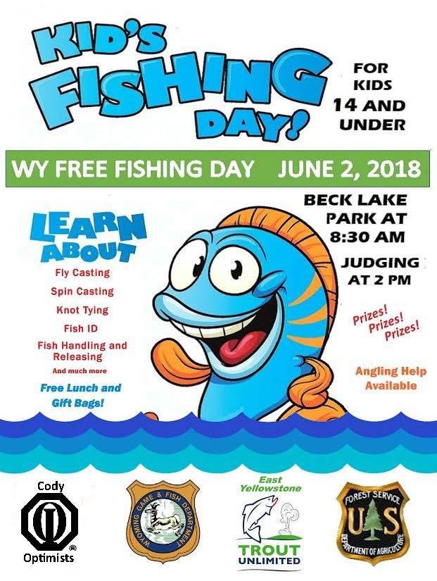 Kids fishing day tomorrow big horn radio network for Is tomorrow a good fishing day