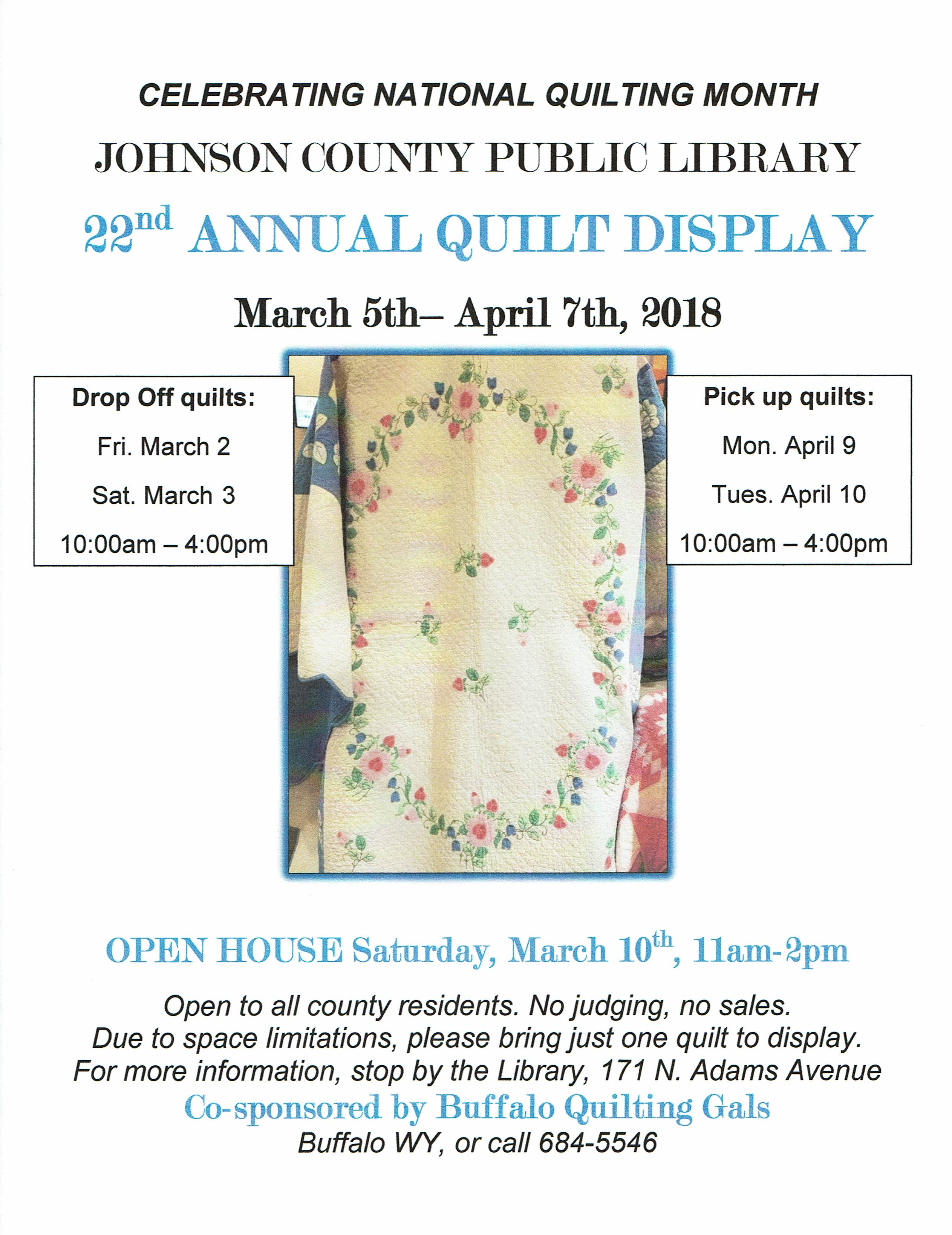 The Johnson County Library Quilt Show   Big Horn Mountain Radio ... : big horn quilts - Adamdwight.com