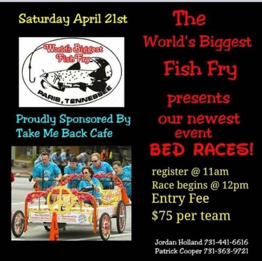 Fish fry looking for teams for bed races wenk wtpr kfkq fish fry looking for teams for bed races publicscrutiny Choice Image