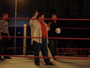 Jon in the ring at a TNA event.