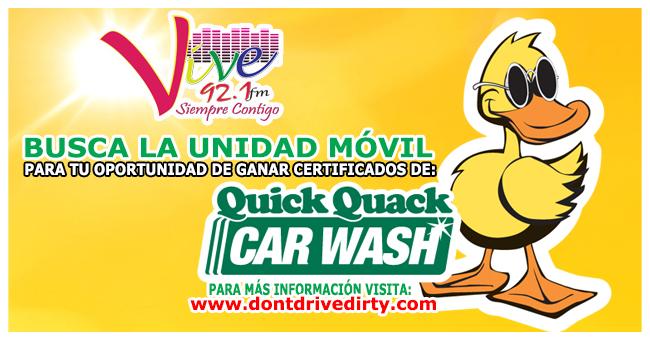 Gana certificados para lavar tu auto en Quick Quack Carwash