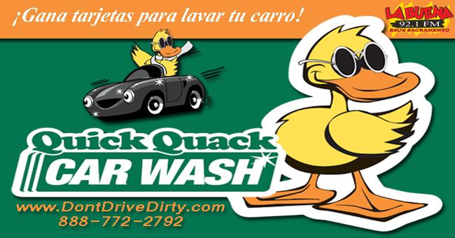 Gana tarjetas para lavar tu carro en Quick Quack Carwash