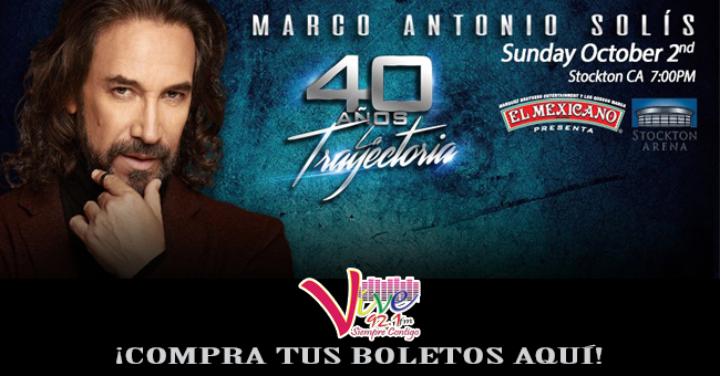 Marco Antonio Solis en Stockton Arena 2 de Octubre!