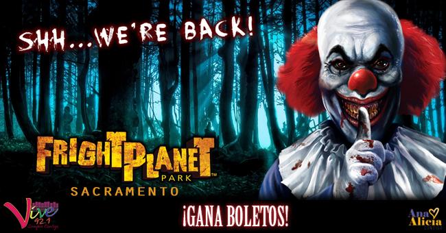 ¡GANA BOLETOS PARA FRIGHT PLANET SACRAMENTO!