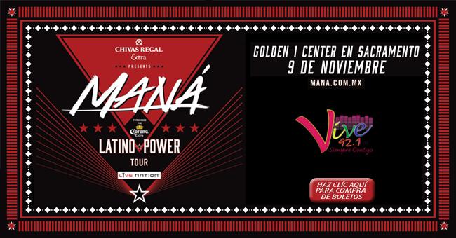 """9 de Noviembre, Maná """"Latino Power Tour"""" Golden 1 Center"""