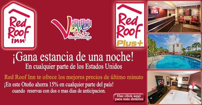 ¡Gana estancia en cualquier Red Roof para tus vacaciones de último momento!