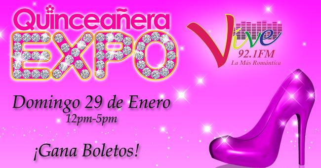 ¡Gana boletos para Quinceañera Expo del Domingo 29 de Enero!