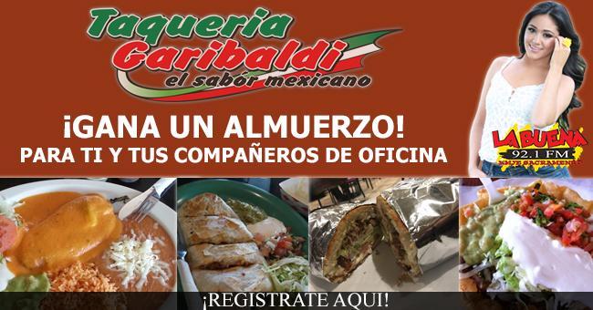 ¡GANA UN ALMUERZO PARA TI Y TUS COMPAÑEROS DE OFICINA CORTESIA DE TAQUERIA GARIBALDI!
