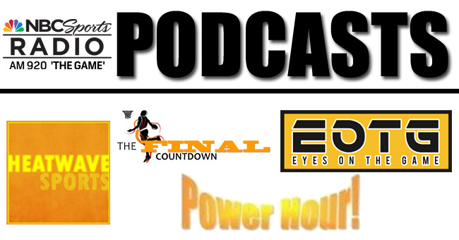 Select from a Number of Podcasts on NBC Sports 920!