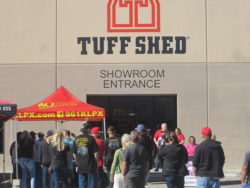 Man Cave Tuff Shed : Man cave ceremony at tuff shed klpx