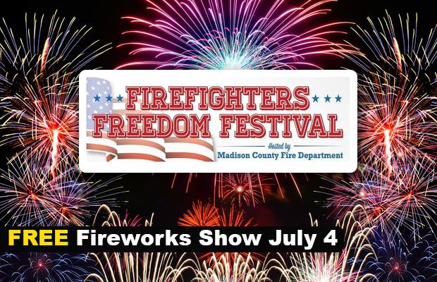 FREE FIREWORKS July 4th