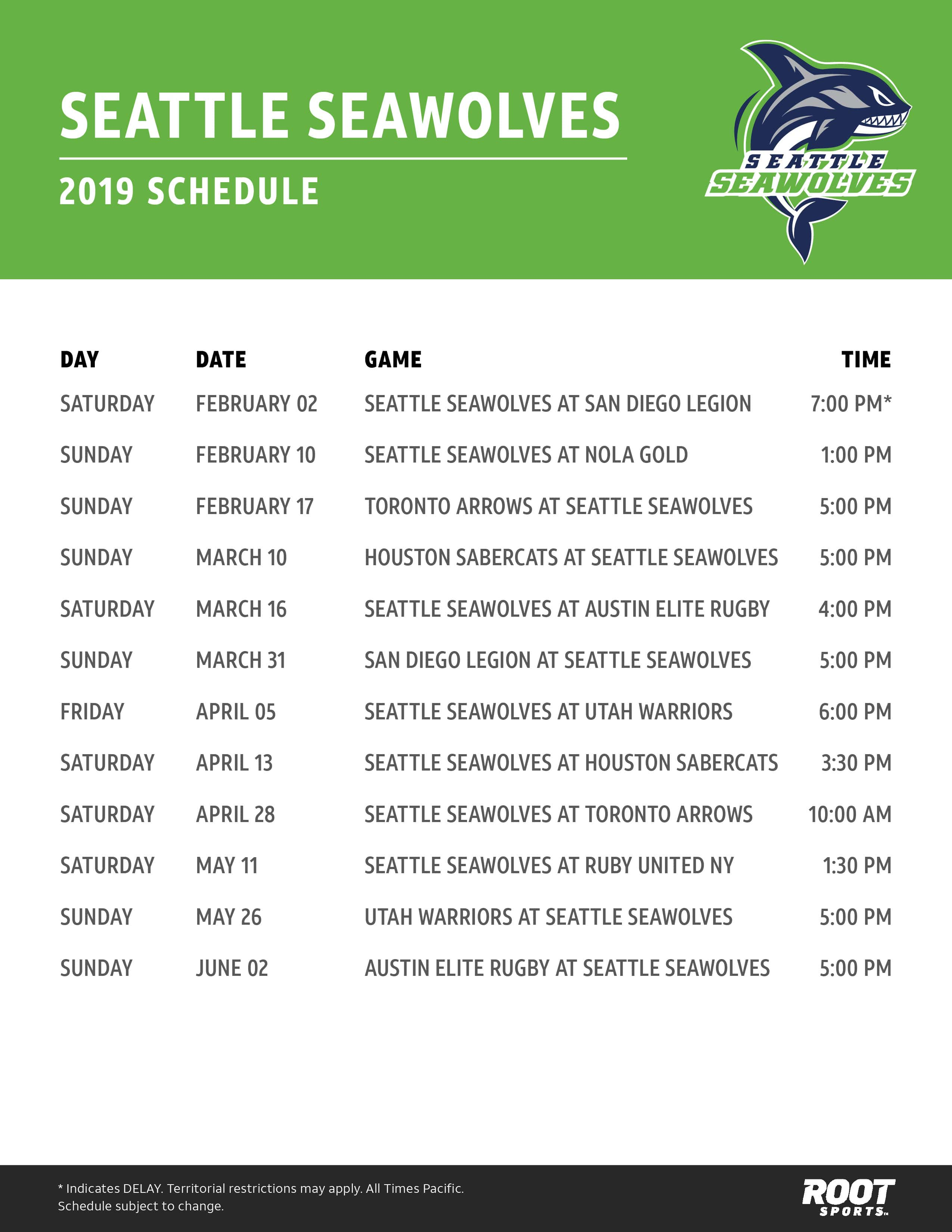 graphic about Seattle Mariners Printable Schedule identify Seattle Seawolves ROOT Sporting activities