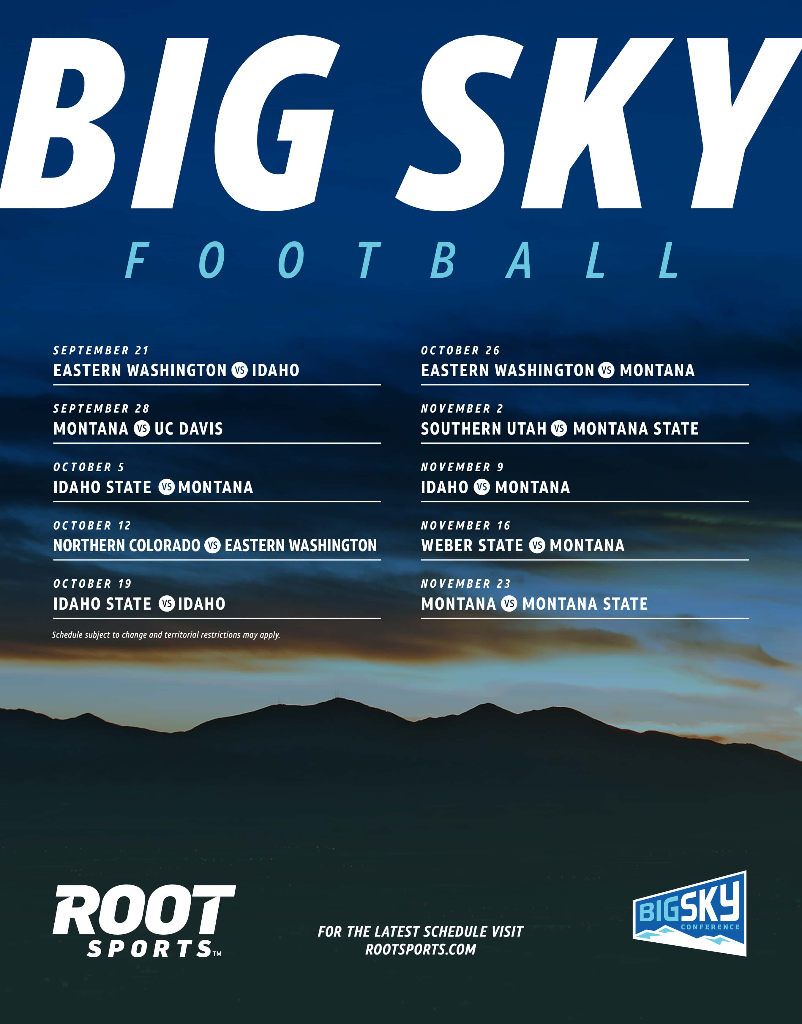 Big Sky Football Root Sports