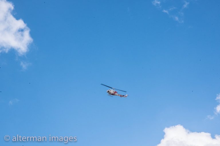 Cal Fire did a helicopter fly-over.