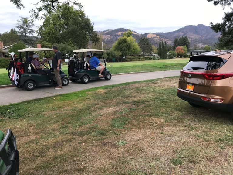 Enjoying an afternoon of golf for a cause - with the chance to win a car! Photo by Karma Hughes