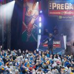 2017 Bridgestone NHL Winter Classic - Chicago Blackhawks v St Louis Blues: ST. LOUIS, MO - JANUARY 2: Nelly preforms for fans during the pregame show prior to the 2017 Bridgestone NHL Winter Classic between the St. Louis Blues and the Chicago Blackhawks at Busch Stadium on January 2, 2017 in St. Louis, Missouri. (Photo by Scott Kane/Getty Images)