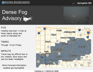 Thick Fog Reducing Visibilities And Causing Crashes In The