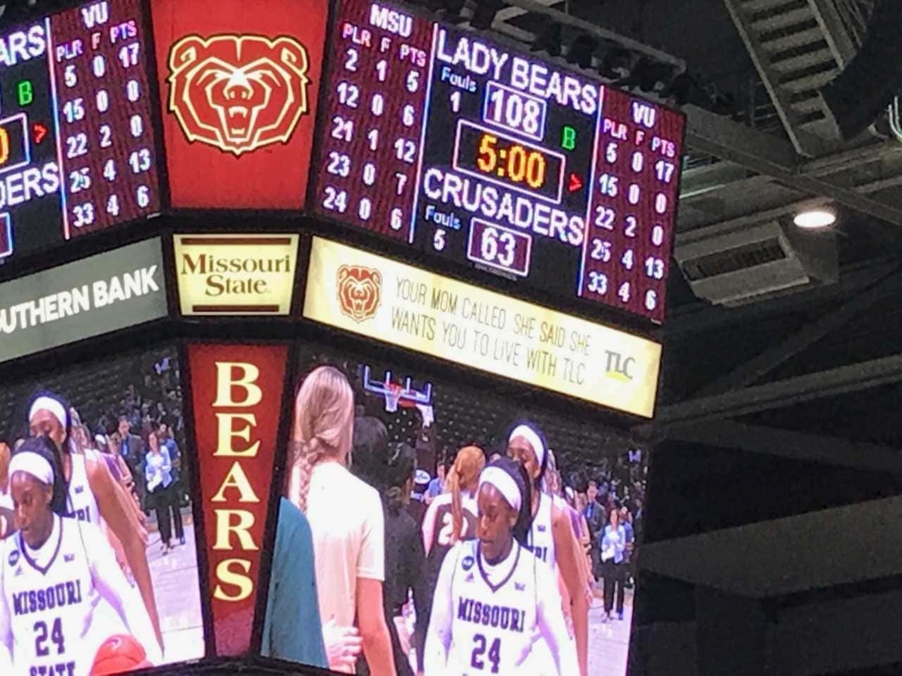 Missouri State Lady Bears Set Jqh Arena Scoring Record In 108 63 Win