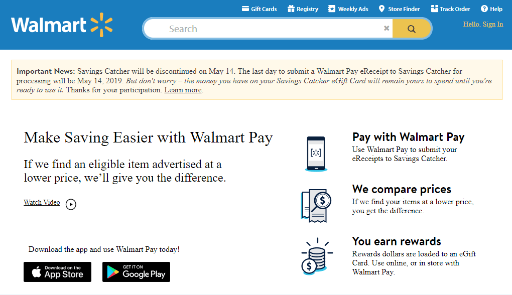 2fe275d0b Walmart says it s planning to discontinue its Savings Catcher program this  spring because it s intent has already been met.