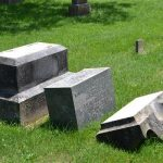lee-cemetary-2: Vandalism at Lee Cemetery In Verona/ Courtesy Lawrence County Sheriff