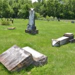 lee-cemetary-3: Vandalism at Lee Cemetery In Verona/ Courtesy Lawrence County Sheriff