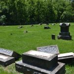 lee-cemetary-5: Vandalism at Lee Cemetery In Verona/ Courtesy Lawrence County Sheriff