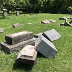 lee-cemetary-6: Vandalism at Lee Cemetery In Verona/ Courtesy Lawrence County Sheriff