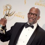 "2015 Creative Arts Emmy Awards - Press Room: LOS ANGELES, CA - SEPTEMBER 12:  Reg E. Cathey, winner of the award for guest actor in a drama for ""House of Cards,"" poses in the press room during the 2015 Creative Arts Emmy Awards at Microsoft Theater on September 12, 2015 in Los Angeles, California.  (Photo by Jason Kempin/Getty Images)"