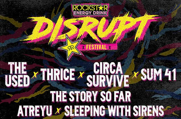 Rockstar Disrupt Festival, The Used, Thrice at Ford Idaho Center - Amphitheater