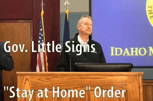 """Gov. Little Signs """"Stay at Home"""" Order"""