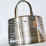 Coach: Snakeskin double strap tote