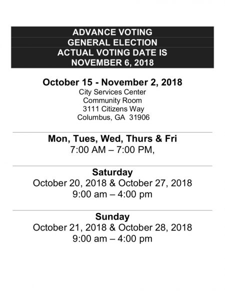 EARLY VOTING DATES