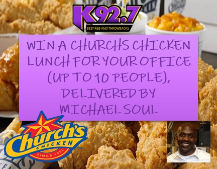 Win Lunch for your Office From Churchs Chicken