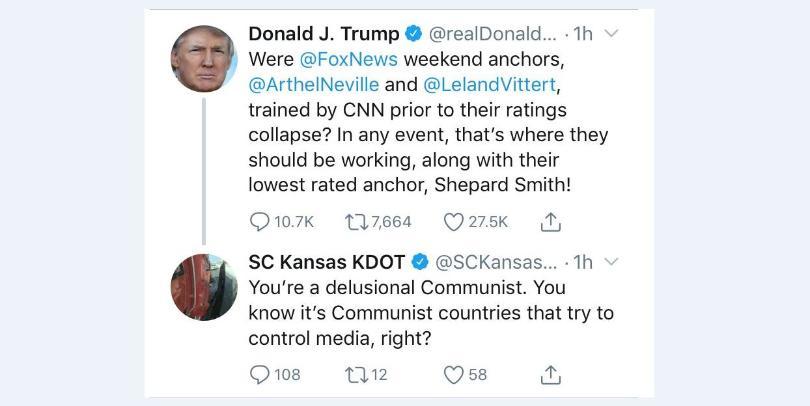 KDOT fires employee over tweet to President Trump   KFDI 101 3