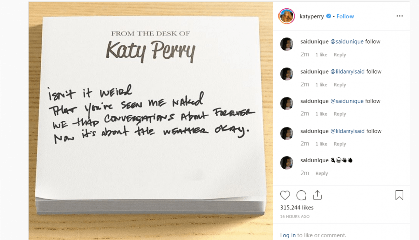 Katy Perry Shares Lyrics For New Single 'Small Talk